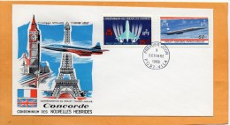 New Hebrides 1968 FDC Projet Concorde - FDC