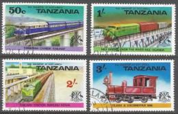 Tanzania. 1976 Railway Transport. Trains. Used Complete Set. SG 187-190 - Tanzania (1964-...)