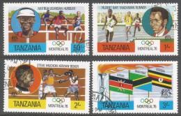 Tanzania. 1976 Olympic Games, Montreal. Used Complete Set. SG 182-185 - Tanzania (1964-...)