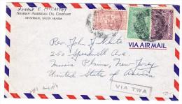 Saudi-Arabien Flugpost Brief Von Dahran Nach Morris Plaine USA - Arabie Saoudite