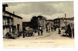 AUBOUÉ (54) - 9 - Place De La République  - Ed. S. Perrin - Carte Colorisée / Toilée - Francia