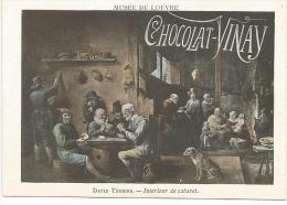 CHROMOS CHOCOLAT VERNAY - PEINTURES DU MUSEE DU LOUVRE - DAVID TéNIERS: INTERIEUR DE CABARET - Chocolate