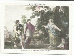 CHROMOS CHOCOLAT VERNAY - PEINTURES DU MUSEE DU LOUVRE - BERETTINI: LA RENCONTRE D'ENéE ET DE DIDON. - Chocolate