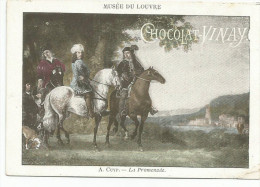 CHROMOS CHOCOLAT VERNAY - PEINTURES DU MUSEE DU LOUVRE - A. CUYP: LA PROMENADE. - Chocolate