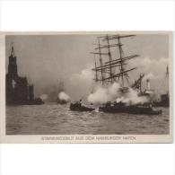BRCTP1554CPA-LFT7263TMOOG.Tarjeta Postal ALEMANA.Barcos En El Puerto De HAMBURGO - Otras Guerras
