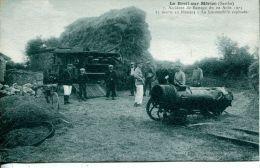 N°4724A -cpa Le Breil Sur Mérize -accident De Battage 1923- - Tracteurs