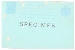 BRIEFKAART SPECIMEN/ 1695 - Pays-Bas