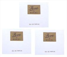 3 X Singapore Perfume Cards Carte Parfumee --  FLORA BY GUCCI - Perfume Cards