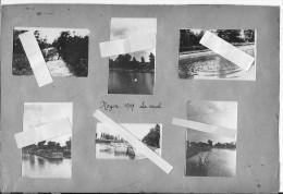 Noyon 1917 Le Canal Les Pénichesla Baignade Soldats Avec Charette 8ème Génie Radio Télégraphistes 6 Photos 14-18  Ww1 - Guerre, Militaire