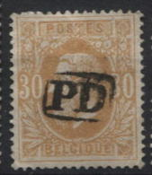N°33 Annulation Anormale Griffe PD. Superbe Et Sans Défauts. - 1869-1883 Leopold II