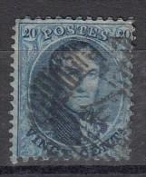 Belgique Leopold 1er Médaillon   Dentelé 12.5 X 13.5   20c Bleu - 1863-1864 Medaillen (13/16)