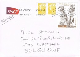 France 2011 Postal Cover Gardanne - Schepdaal (Belgium) - Michel Angelo 1475-1564 Slaves - France
