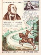 23  D   France   Journée Du Timbre 1956  Cote  12  Euros  De Tassis Cheval - Dag Van De Postzegel
