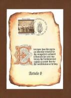 Vereinigte Nationen 1990 ,  Maximum Card , Human Rights - Nov. 16. 1990 - - New York -  VN Hauptquartier