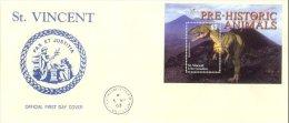 St. Vincent 2003 Souvenir Sheet Dinosaurs Prehistoric #3154 FDC - St.Vincent Y Las Granadinas