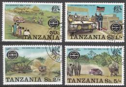 Tanzania. 1977 25th Anniv Of Safari Rally. Used Complete Set. SG 202-205 - Tanzania (1964-...)