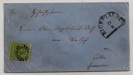 Bayern, Letter From  Eichstaedt To Celle, Scott N. 6, 9 Kreuzer - Beieren