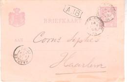 1893 Bk Via ARNHEM-ROTTERD: III Van 14 NOV 93 Naar Haarlem - Periode 1891-1948 (Wilhelmina)