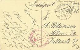 Postkaart/CP Oostende - Op Den Dijk - K.D. Feldpoststation A. Briefstempel. Res. Infanterie Regimet 213. - Guerre 14-18