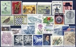 ##G1359. Iceland 1964-91. 26 Items. Michel 23€. MNH(**) - Islande