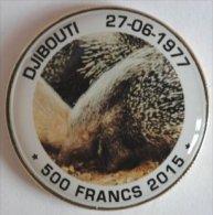 Djibouti 500 Francs 2015 Bi-Metaal + Kleuren Dier Egel Stekelvarken - Djibouti