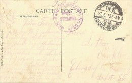 Postkaart/CP Oostende - Les Bains - K.D. Feldpoststation Nr 53. Briefstempel. Res-Sanitäts/Komp. N° 53. - Guerre 14-18