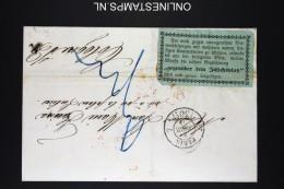 France Lettre 1855 Paris Par Aachen A Coeln , Aus Frankreich Per Aachen En Rouge  +Label - Poststempel (Briefe)