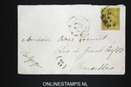 France Lettre 1884, 25 C   Type 2,a Brusselles - Marcofilie (Brieven)