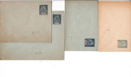 Réunion Entiers Postaux 1-2-3-4 + CP 6-7+C.L3 (le Lot De 7 LOTS) - Réunion (1852-1975)