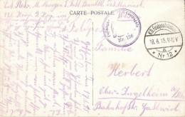 Postkaart/CP Oostende - Vue Générale Du Port - K.D. Feldpoststation Nr 12. Festungs-Compagnie Nr. 126. - Guerre 14-18