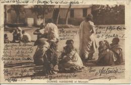 COLONIE ITALIANE ERITREA 30 11 1935 DONNE ABISSINE AL MERCATO AFFRANCATA VIAGGIATA CARTOLINA POST CARD - Erythrée
