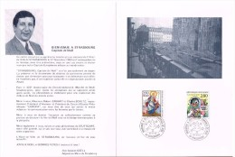 Bienvenue à Strasbourg Capitale De Noël 27.11.93 Dépliant Exp. Philatélique - Postmark Collection (Covers)