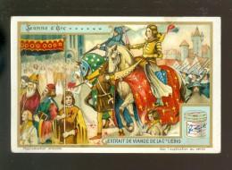 Chromo ( 3997 )   Liebig 270 -   Jeanne D´ Arc   - Anno 1890 - Liebig