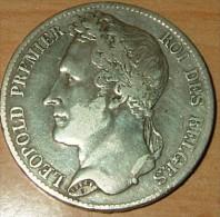 5 Francs 1833 - 1831-1865: Leopold I