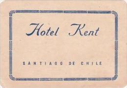 CHIULE SANTIAGO HOTEL KENT VINTAGE LUGGAGE LABEL - Hotel Labels