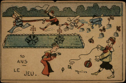 JEUX - TOUPIE - Illustrée Par MORISS - Jeux Et Jouets