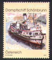 2012 - AUSTRIA - CENTENARIO PIROSCAFO A VAPORE SCHONBRUNN. MNH - 1945-.... 2. Republik