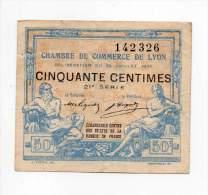 Lyon - 50 Cts - 29 Juillet 1920 - 21° Série - Sans Filigrane - Chambre De Commerce