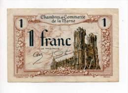 Marne - 1 Franc - Remb. 1er Janvier 1926 - Filigrane Abeilles - Chambre De Commerce