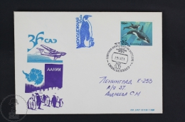 Soviet/ Russian Polar Expedition/ Transport Topic Cover - 1991 Postmarks -Penguins - Polarmarken