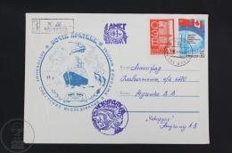 Soviet Antarctic Expedition/ Russian Polar Air, Sea & Earth Transport Topic Cover - 1988 Postmarks - Polarmarken