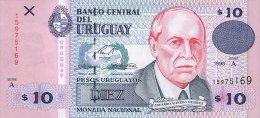 Uruguay 10  Pesos 1998 Pick 81 UNC - Uruguay