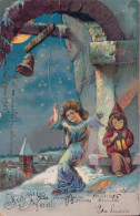 Joyeux Noël, Angelot Et Cloche, Litho (241204) - Anges