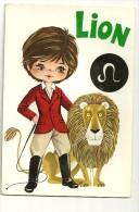 Astrologie. Lion. Petit Garçon Dompteur Et Lion. CROMO - Astrologie