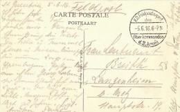 Postkaart/CP Oostende. Le Kursaal Vers La Digue - K.D. Feldpostexped. Des Oberkommandos D.2. Armée - 05/06/1916 - Guerre 14-18