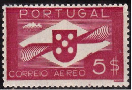 PORTUGAL - 1936-1941, (CORREIO AÉREO)  Hélice.  5$   (*) MNG  Afinsa  Nº 6 - Neufs