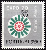 PORTUGAL - 1970, (CORREIO AÉREO)  Osaka Expo´70.  3$50   ** MNH  Afinsa  Nº 11 - Neufs