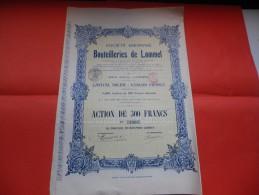 BOUTEILLERIES DE LOMMEL (1919) - Actions & Titres