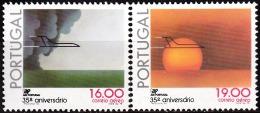PORTUGAL - 1979, (CORREIO AÉREO)  35º Aniversário Da TAP. ( Série, 2 Valores )   ** MNH / (*)MNG  Afinsa  Nº 12/3 - Neufs