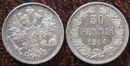 (J) FINLAND: Silver 50 Pennia 1914 UNC ( 1533) - Finlandia